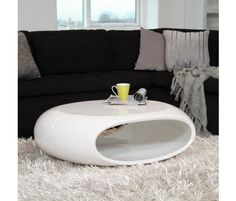 White Oval Cocktail Table >> Modern and cool!