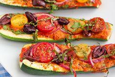 Zucchini Pizza Boats.... Ooooo!!