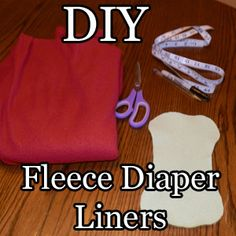 """Fleece Cloth Diaper Liners - measure the liner to be 1"""" less than the diaper cover all the way around"""