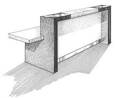 Custom 15 This is a concept sketch of a popular reception desk design that is available in a variety of sizes and materials It can be made to fit most