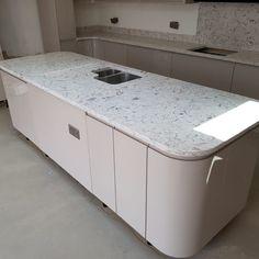 Bianco Foresta- Welwyn, Herts - Rock and Co Granite Ltd Kitchen Island, Storage, Furniture, Home Decor, Island Kitchen, Purse Storage, Decoration Home, Room Decor, Home Furnishings