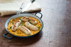 White sausages with