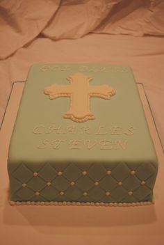 baptism cake - without the fondant - I just like the overall design