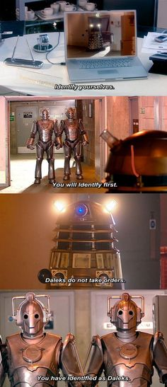 The Dalek Hubris ~ This never gets old, silly Daleks.