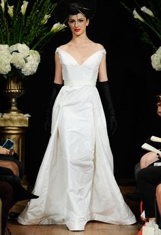 Sarah Jassir Fall 2014 white gown inspired by Gigi