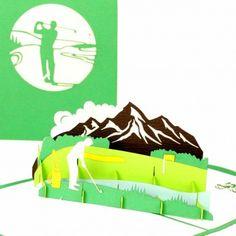 Pop-Up Karte Golfer #golfurlaub #golfspielen #ruhestandkarte #ruhestand #golfer