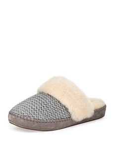 Ugg+Aira+Knit+Shearling+Slippers+|+Shoes+and+Footwear