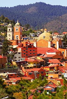 Real del Monte, Mexico. Where my paternal grandfather was born. Lovely town where you can get a Mexican version of Cornish pasties. Yum!