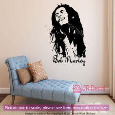 Bob Marley Wall Art Stickers Music Celebirty Decal Removable Vinyl Transfer