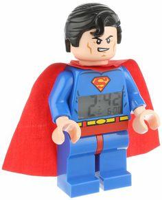 Lego DC Comics 9005701 Super Heroes Superman Kids Minifigure Light Up Alarm Clock Superman Love, Superman Kids, Unusual Clocks, Lego People, Lego Man, Lego Minifigs, All Lego, Lego Toys, Lego Super Heroes