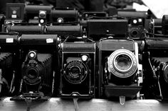 Vintages cameras at Portobello Road Market, London, United Kingdom