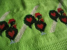 Toalha com Galos de Barcelos by PTcrossxstitch on Etsy