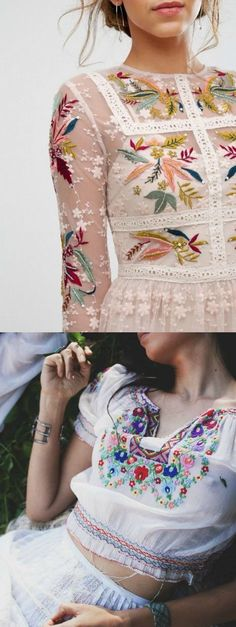 The World's Most Attractive Embroidery Clothings and Bags can be found at Pasaboho. ❤️ :: boho fashion :: gypsy style :: hippie chic :: boho chic :: outfit ideas :: boho clothing :: free spirit :: fashion trend :: embroidered :: flowers :: floral :: lace :: summer :: fabulous :: love :: street style :: fashion style :: boho style :: bohemian :: modern vintage