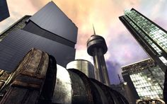 Unreal Old Friends – Unreal Tournament Maps and Mods Unreal Tournament, Old Friends, Cn Tower, Maps, Community, Future, Architecture, Building, Travel