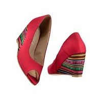 Andrea Conti Peeptoe Wedges - Large Size Clothing and Maternity Wear - www.plussizedglamour.co.uk