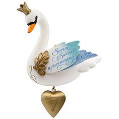 Hallmark Keepsake 2017 Seven Swans-a-Swimming Twelve Days of Christmas  Ornament #Hallmark #Keepsake #Seven #Swans #Swimming #Twelve #Days #Christmas #Ornament