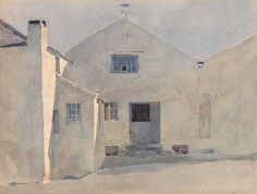 Archibald Knox (1864 — 1933, Scotland) The Kella Mill, Sulby. watercolour on paper.