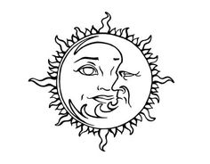Coloring Pages Of The Sun Moon And Stars