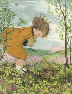 Muriel Dawson - ''Finding the Leveret'' (a young hare)