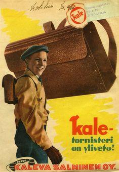 #Kaleva Salminen Oy #Erva Latvala Oy #Kale-Tornisteri #Tornisteri eli sotilasreppu #Vuosi 1945