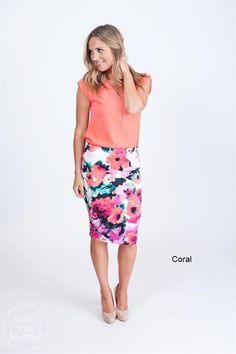 These watercolor pencil skirts are SURE to make you the envy around town this season! Rock it on a night out on the town, pair it with a classy top for business, or be a standout while running errands around town!
