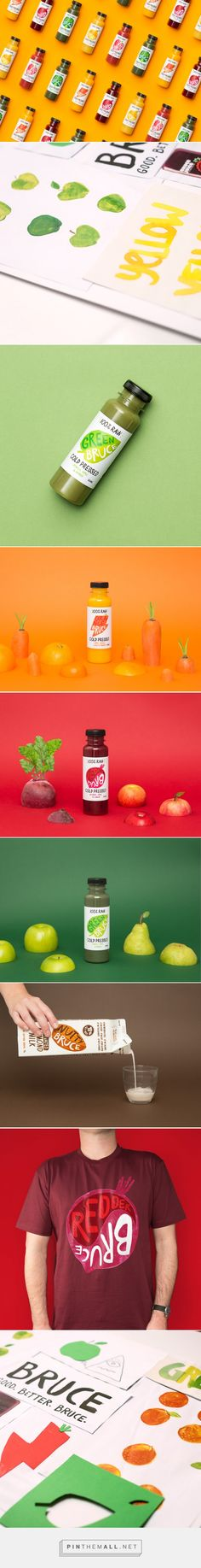 Bruce Juice Packaging designed by Marx Design​ - http://www.packagingoftheworld.com/2015/10/bruce-juice.html