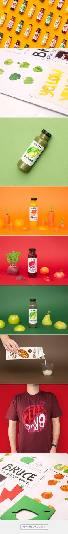 Bruce Juice Packaging designed by Marx Design - http://www.packagingoftheworld.com/2015/10/bruce-juice.html