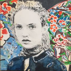 Mickey Mouse And The Goodbye Man  #art #artwork #painting #wood #mixedmedia #boymeetsgirl #colors #saint #cigarette #landscapelovers #contemporaryart #contemporaryartist #amour #blacknwhite #italianart #italianartist