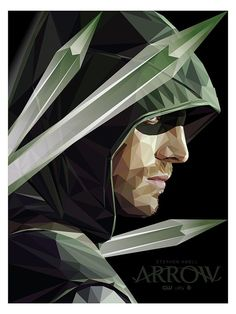 Arrow by Simon Delart, via Behance - Arrow Digital Art Illustration Print Design fanart green arrow Tribute to the CW TV show Arrow - Oliver Queen