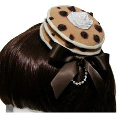 Sweet Chocolate Chip Pancakes and Whip Cream Gothic and Lolita... ($30) ❤ liked on Polyvore featuring accessories, hair accessories, lolita, headband hair accessories, hair clip accessories, wrap headbands, mini hair clips y barrette hair clips