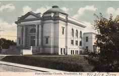A74/+Winchester+Kentucky+Ky+Postcard+1910+First+Christian+Church+Building+