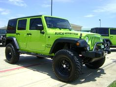 lime green jeeps - Google Search