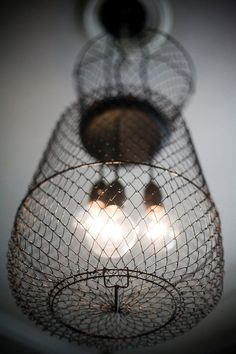 Black Out Live Well Cluster Chandelier by roughsouthhome on Etsy, $189.00