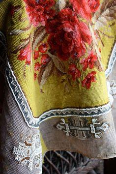 Vintage European Needlepoint Tapestry