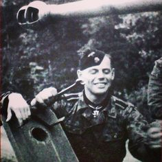 """Knight Cross holder SS-Uscha. Johann Thaler. He was tank driver (PzKpfw IV) in 6th company of the 2nd SS-PzRgt """"Das Reich"""". During Soviet attack on Teterewino, Grasnoje and Kotschetovka, Thaler drove his tank at high speed towards the enemy. Together with 2 other tanks, they succeeded in cutting-off 17 enemy tanks."""