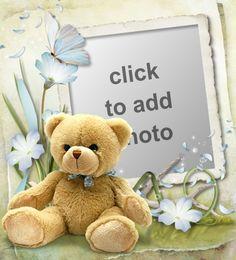 Birthday Photo Frame, Birthday Photos, Creative Flower Arrangements, Borders And Frames, Photo Picture Frames, Photo Shoot, Baby Boy, Teddy Bear, Digital