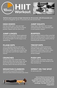 10-Minute High Intensity HIIT Workout