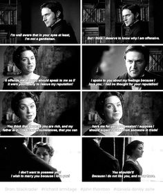 John and Margaret - this scene broke my heart, he loves her but the fact is she had no idea he liked her let alone loved her 😞💔 Period Movies, Period Dramas, Elizabeth Gaskell, John Thornton, Look Back At Me, North South, Pride And Prejudice, Book Nerd, Looking Back