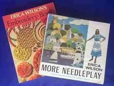 2 Erica Wilson Books Embroidery Book And More Needleplay Hardcover Softcover