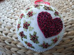 Hand Embroidered Hanging Ornament. $12.00, via Etsy.