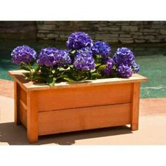 Hollis Wood Products 12 In. X 24 In. Redwood Planter Box 12029 At