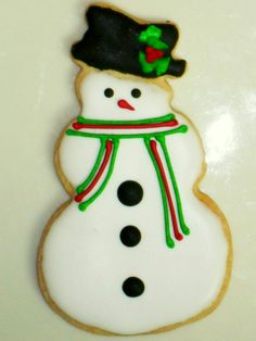 Frosty the Snowman Sugar Cookie.