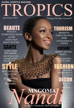 Congo, French Magazine, Menu, French Lessons, Fabric Jewelry, Beauty Routines, African Fashion, Printing On Fabric, Tropical