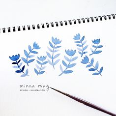 watercolor illustrations - minna may design + illustration