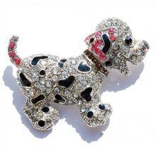 Животных броши, булавки, милый черная собака посеребренная большой горный хрусталь брошь для женщин подарочный кристалл броши ювелирные изделия(China (Mainland))