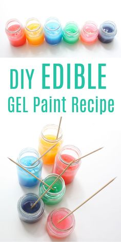 hese Homemade Gel Paints are so easy to make, extremely cheap – in comparison to store bought paint – and completely edible! #easypaintrecies #diypaint #babypaint #toddlerideas Creative Arts And Crafts, Easy Crafts For Kids, Diy For Kids, Art Activities For Toddlers, Creative Activities, Preschool Lessons, Sensory Activities, Crafts For 2 Year Olds, Holiday Crafts For Kids