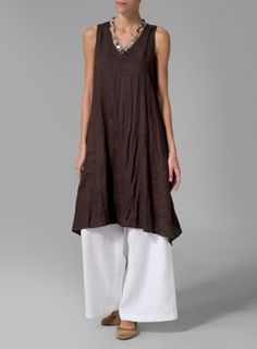 Linen Full Length Wide Leg Pants Set