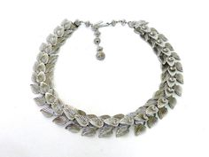 Antique Cascading Leafs Necklace by KMalinkaVintage on Etsy