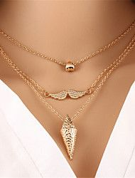 Women's+Layered+Necklaces+Alloy+Heart+Fashion+Silver+Golden+Jewelry+–+EUR+€+3.81