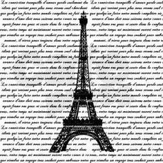 Vintage Eiffel Tower and French Script Shower Curtain      #frenchscriptshowercurtainglam #eiffletowershowercurtainglam